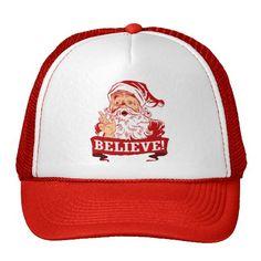 Believe In Santa Claus, christmas Trucker Hats. get it on : http://www.zazzle.com/believe_in_santa_claus_trucker_hats-148166949364210299?rf=238054403704815742