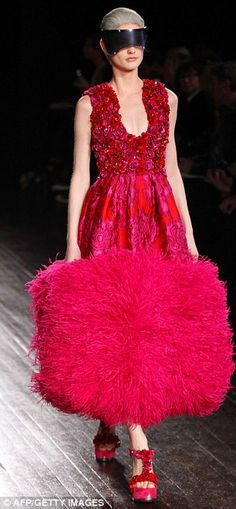 Sarah Burton for Alexander McQueen ~ the feathers may be overkill
