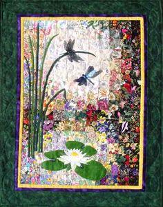 """Dragonflies & Lilypads"" Watercolor Quilt Kit - $36.95"