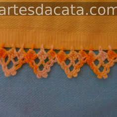 BICO EM CROCHE COM PAP Crochet Fabric, Crochet Flowers, Knit Crochet, Crotchet, Crochet Borders, Crochet Patterns, Needlepoint, Crochet Projects, Free Pattern