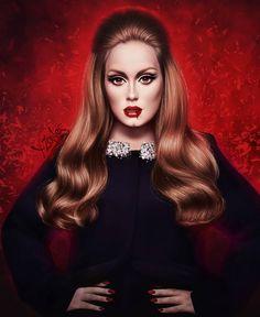 Adele Singer, Adele Grammys, Adele Photos, Adele Adkins, 3d Art Drawing, Long Hair With Bangs, Skull Makeup, Dope Art, World Music