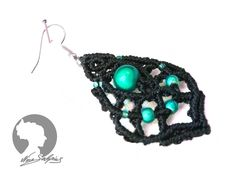 Ohrhänger - 1Paar Makramee Ohrringe blau petrol türkis - ein Designerstück von soyana bei DaWanda