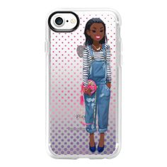 Gouache Girl Overalls - iPhone 7 Case And Cover (55 NZD) ❤ liked on Polyvore featuring accessories, tech accessories, iphone case, iphone cases, clear iphone case, iphone cover case and apple iphone case