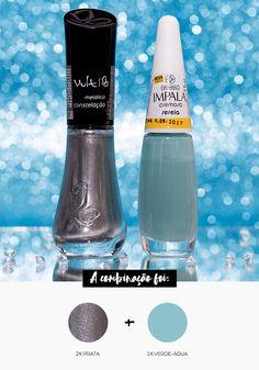 Combinando Esmaltes: verde-água com detalhes - Unha Bonita Nail Designer, Make Beauty, Pedicure Nails, Nail Tutorials, Love Nails, Nail Arts, Nails Inspiration, Hair And Nails, Impala