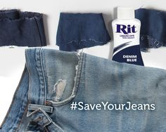 Save Your Jeans - Dye Faded Jeans Dark Blue (or Black, or Red) Diy Fashion Projects, Fashion Ideas, Sewing Projects, Diy Projects, Fashion Tips, Faded Jeans, Black Jeans, Sewing Clothes, Diy Clothes