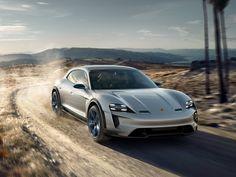 Sports car, Porsche Mission E Cross Turismo, geneva 2018 wallpaper