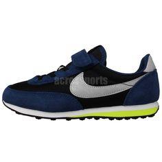 f4bd26464c02 Nike Elite PS Black Blue Volt Prescool Velcro Boys Running Shoes Sneakers  http
