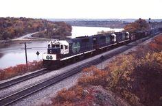 from GO Transit hustle a CN slag train through Bayview Jct. Go Transit, Rubber Raincoats, Train Car, Locomotive, Hustle, Trains, Euro, Transportation, Canada