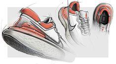 Nike ZoomX Invincible Run Flyknint on Behance Air Max Sneakers, Sneakers Nike, Sneakers Sketch, Nike Converse, Shoe Sketches, Industrial Design Sketch, Girls Shoes, Designer Shoes, Nike Air Max