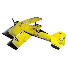 Descripción: Según los grandes expertos de la aviación el modelo Pitts es el mejor biplano creado en la historia de la aviación por el legendario Curtis Pitts. Se convirtió en un icono como avión acrobático y gracias a su construcción tubular y su potente motor M14P/PF.  El equipo de diseñadores de Dynam-RC a conseguido en este modelo capturar la esencia del histórico avión en esta maqueta de avión radiocontrol a escala alargando minimamente el fuselaje para mejorar el rendimiento de…