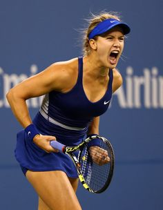 Even when some of my favorite players lose or are upset, as Ana Ivanovic was on day 4 of the 2014 US Open, I usually don't feel as badly as I did watching old CiCi Bellis fall to Zarina Diyas of Kazakhstan, I was caught up… Eugenie Bouchard, Tennis Center, Ana Ivanovic, Tennis Players Female, Match Point, Billie Jean King, Pictures Of The Week, Us Open, Sports Pictures