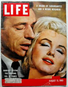Marilyn Monroe and Yves Montand - Life Magazine 1960