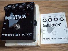 Tech 21 Comptortion Compressor Distortion Pedal Bass Pedals, Distortion Pedal, Bass Amps, Cooking Timer, Guitar, Tech, Technology, Guitars