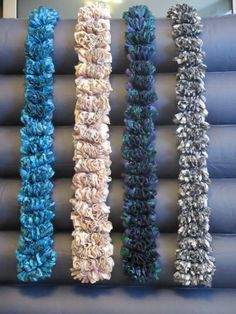 Ribbon Yarn Crochet Ruffled Scarves by SiennaSews on Etsy, $18.98 Free Shipping!!