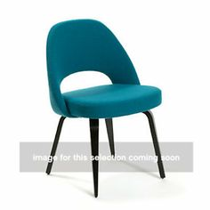 Show details for Saarinen Executive Armless Chair, Upholstered Back, $943