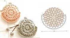 monedero de ganchillo Crochet Diy, Crochet Chart, Love Crochet, Crochet Patterns, Crochet Diagram, Crochet Coin Purse, Crochet Earrings, Confection Au Crochet, Diy Bags Purses