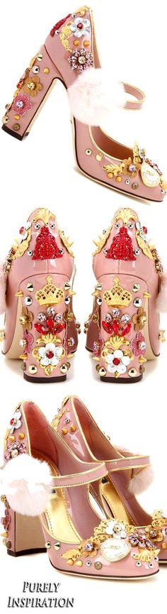 Dolce & Gabbana Embellished patent leather pumps | Purely Inspiration