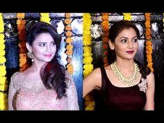 Adaa Khan & Sriti Jha at Ekta Kapoor's house for Diwali party 2016.