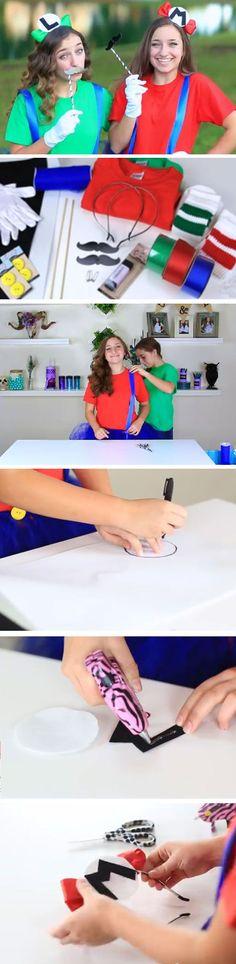 Mario & Luigi | 30+ Super Awesome DIY Halloween Costumes for Teens #diyhalloweencostumes