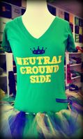 Neutral Ground Side V-neck Tee