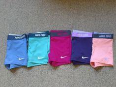 nike spandex new nike pro Nike Outfits, Sporty Outfits, Athletic Outfits, Athletic Wear, Athletic Clothes, Workout Attire, Workout Wear, Workout Shorts, Pink Workout