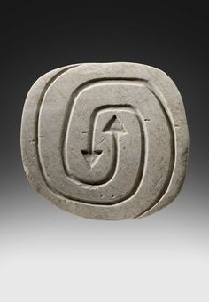 Abstract engraved stone Valdivia culture 1250 BC