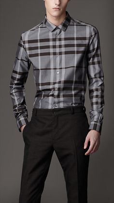Burberry - Slim Fit Check Shirt