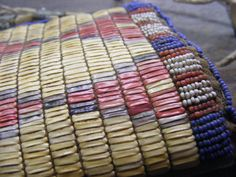 Sioux Style Quilled and Beaded Knife Sheath. -detail, unknown maker