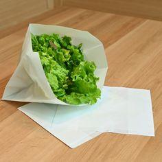 Beutel aus Pergamentersatzpapier - Vielfältig einsetzbar und ganz ohne Kunststoff.  www.etivera.com Lettuce, Vegetables, Food, Sachets, Essen, Vegetable Recipes, Meals, Yemek, Salads