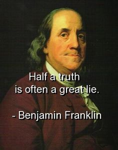 benjamin franklin, quotes, sayings, truth, great, lie