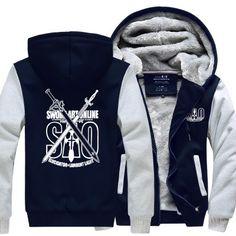 Sword Art Online Thick Winter Zipper Anime Hoodie