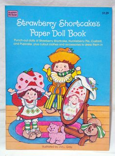 Mint! Unused Vintage Strawberry Shortcake's Paper Doll Book (Happy House 1984) | eBay