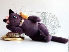 Карманное счастье - фиолетовый,котик,карманное счастье,подарок девушке