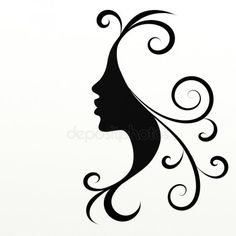 Woman Face Silhouette, Silhouette Portrait, Silhouette Art, Pencil Art Drawings, Art Sketches, African Art Paintings, Stencil Art, String Art, Fabric Painting