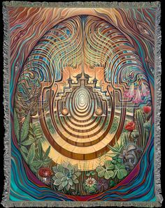 The Sacred Garden art blanket by Amanda Sage