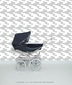 Hipster Wall Paper- Silver/White