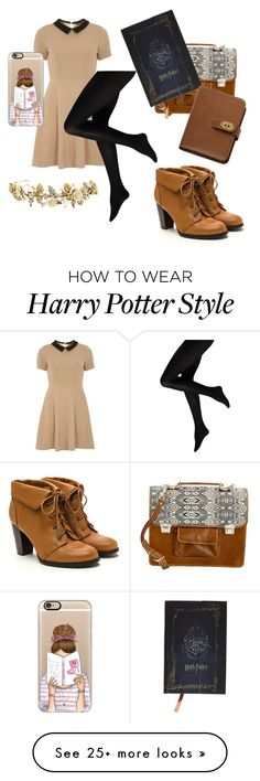 """Bookworm Outfit "" by grangerweasleypotter on Polyvore featuring mel, NOVICA, Casetify and Mulberry"