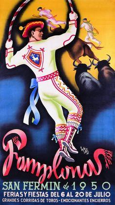 Ferias de San Fermín 1950 ~ Pamplona _____________________________ Espagne ~ España ~ Spain