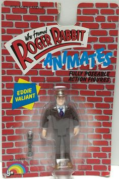 (TAS033472) - 1987 LJN Toys Who Framed Roger Rabbit Animates Eddie Valiant