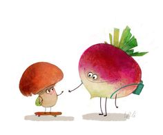 Making New Friends :) Wiebke Rauers Illustration