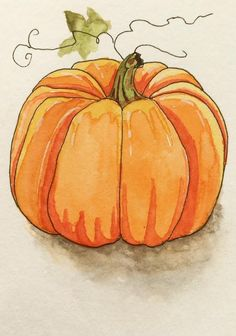 Just a fun little Fall doodle. : Watercolor Just a fun little Fall doodle. Fall Drawings, Halloween Drawings, Halloween Art, Halloween Pumpkins, Pumpkin Drawing, Pumpkin Art, Pumpkin Painting, Autumn Painting, Autumn Art