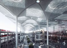 Grimshaw, Nordic and Haptic unveils airport for Istanbul, Turkey