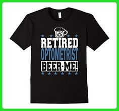 Mens RETIRED OPTOMETRIST BEER ME! Retired Optometrist T-Shirt! Medium Black - Food and drink shirts (*Amazon Partner-Link)