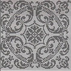Gallery.ru / Фото #173 - Узоры (схемы) - Olgakam Filet Crochet Charts, Crochet Cross, Crochet Motif, Crochet Patterns, Biscornu Cross Stitch, Cross Stitch Embroidery, Embroidery Patterns, Cross Stitch Designs, Cross Stitch Patterns