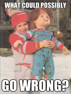Funny pictures and memes - part 2 childs play chucky, horror house, best ho Horror Movie Characters, Horror Films, Horror Art, Art Épouvante, Dance Music, Movie Memes, Funny Memes, Funny Pics, Movie Quotes