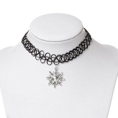 "Black Tattoo Choker Necklace  30cm(11 6/8"") long (various designs)"