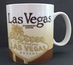 Starbucks Las Vegas 2010 Collector Series 16 oz Coffee/Tea Mug #Starbucks