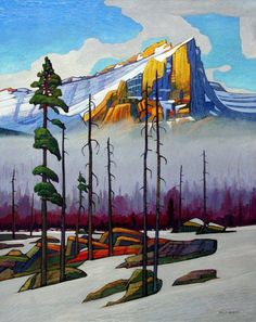 'Incandescent Mountain Peak' by Canadian Artist Nicholas Bott. Oil on Canvas Shared by Bouwman Canadian Painters, Canadian Artists, Landscape Art, Landscape Paintings, Landscapes, Paintings I Love, Awesome Paintings, Pastel Art, Pictures To Paint