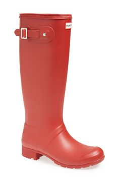Hunter 'Tour' Packable Rain Boot (Women) - red or black - size 6