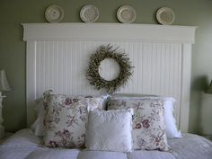 Beadboard Headboard  Iu0027m Thinking. Adhere Beadboard To An Old Door Add Trim  U0026 Voila!